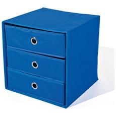 Portaoggetti Con 3 Cassetti Colore Blu