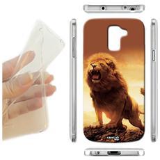Cover Morbida Slim TPU Leone Ruggisce per Samsung Galaxy A8 Sm-A800F