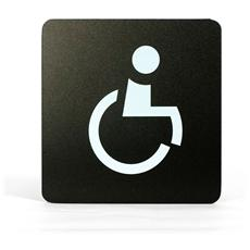 Segnaletica Targa Wc Bagno Handicap Pittogrammi 16X16 Con Adesivo