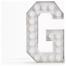 Lampada Lettera G in Metallo con Lampadine LED Altezza 60cm - Linea Vegaz
