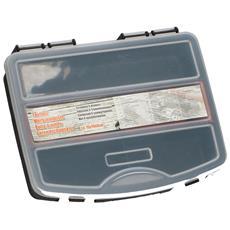 Cassetta Porta Attrezzi Utensili Valigetta Plastica Scomparti E Manico 15x19x4cm
