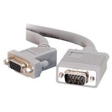 Cavo Video C2G 81117 - for Monitor - Schermato - 1 Pacco - 1 x HD-15 Maschio VGA - 1 x HD-15 Femmina VGA - Cavo estensione - Grigio