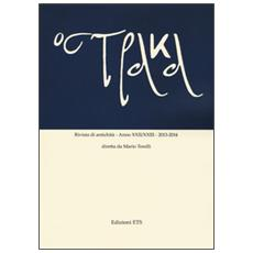 Ostraka. Rivista di antichit� (2013-2014) vol. 22-23