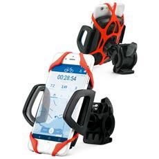 """Bike Holder Supporto da Bici Universale per Dispositivi fino a 5,5"""" Colore Nero / Grigio"""