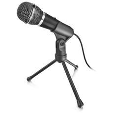 Microfono Starzz Dotato di Interruttore di Disattivazione Audio e Base a Treppiede