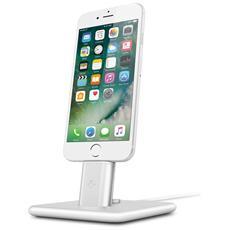 Hirise 2 Deluxe Stand per iPhone e iPad con supporto cavo Lightning - Argento