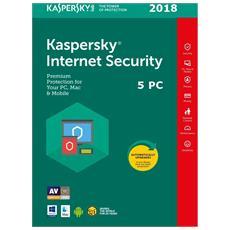 Internet Security 2018 - 5 Pc / mac / dispositivi - 1 Anno - Multilingue - Esd - Digital Code