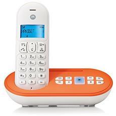 Cordless T111 con Vivavoce Segreteria e Wireless colore Arancione