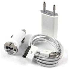 Kit 3in1 Cavo Dati - Charger Ac Dc For Iphone4 / 4s