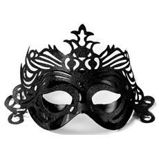 Maschera Nera Con Decori Glitter