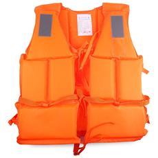 Giubbotto Salvataggio Salvagente Arancione Adulto Con Fischietto Mare Fiume Scii Nautico Sport Acqua Navigazione