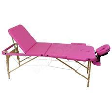 Lettino Massaggio 3 Zone Classico - Rosa