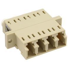 Quad LC / LC, Multimode, with flange 4 x LC 4 x LC Beige cavo di interfaccia e adattatore