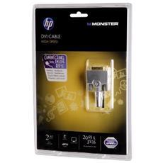 00120790 2.44m DVI-D DVI-D Nero cavo DVI