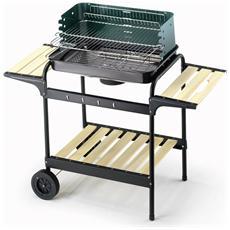 Barbecue 60-40 Green / W Altezza 90 cm dimensioni del braciere 58 x 38 cm Peso 8.5 Kg