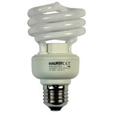 Lampadina fluorescente Maurer luce calda 2700K E27 W20 V230 5Pz