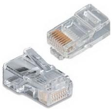 Connettori Plug Trasparenti Rj45 100 Pz.