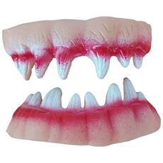 Denti Zanne Vampiro Dracula Zombie Sangue Mostro Make Up Halloween Fake Blood