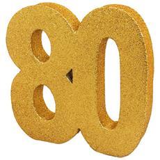 Decorazione Da Tavolo In Glitter Dorato A Forma Di Numero (18) (dorato)