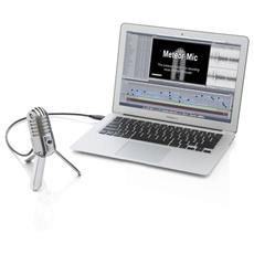 Meteor Mic, Computer portatile, 20 - 0.02 Hz, Cardioid, Cablato, USB, Cromo