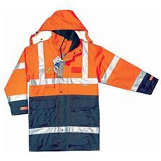 Parka Ad Alta Visibilità Goodyear In Poliestere Oxford Traspirante Colore Arancio E Blu Taglia Xs