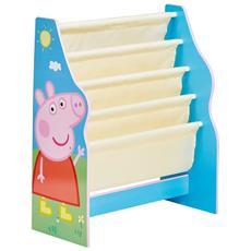 Mensola Per Libri Bambini 51x23x60 Cm Blu Worl213012