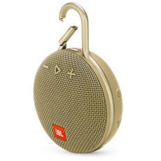 Speaker CLIP 3 Bluetooth Waterproof Ultra-Portatile con Microfono e Moschettone Integrato Colore Sabbia
