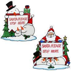 Decorazione Per Finestra Con Babbo Natale E Pupazzo Di Neve (taglia Unica) (assortiti)