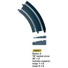 Accessori 1:32 Curva 45? Raggio 3 con supporto 2pz C8297