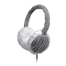 WOOL Cuffie Stereo con Microfono e Tasto di Risposta Jack 3,5 mm - Colore Grigio Bianco