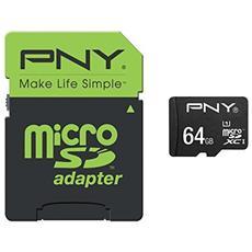 MicroSDXC UHS-I da 64GB Class 10 + Adattatore SD