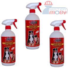 Repellente disabituante allontana anti cani gatti prodotto naturale spray 3x 1 lt