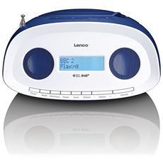 Radio DAB+ / FM Portatile con CD e MP3 SCD-69 Colore Blu