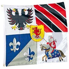 Bandiera Dei Cavalieri Con Loghi E Stemmi Casate Legler