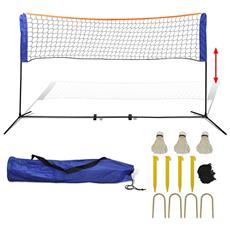 Set Rete Da Badminton Con Volani 500x155 Cm
