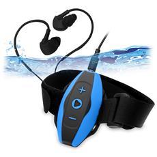 Neptun Lettore MP3 4GB Nero, Blu