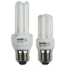 Lampadina fluorescente Maurer 3 tubi T2 luce fredda 4000K E27 W13 V230