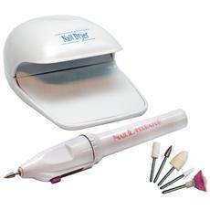 Manicure Pedicure Kit Fresa Unghie Asciuga Smalto Nail Art Decorazione