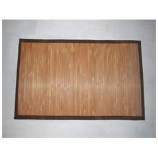 Tappeto Bambu Bamboo Cm60x100 Con Listelle Grandi Colore Beige