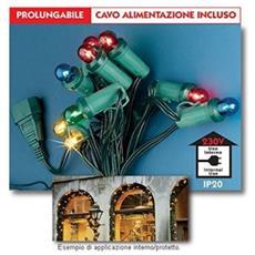 4501520 Festone 20 Luci Colorate E14 14v 5w Mt 7,8 Per Interno Ip20
