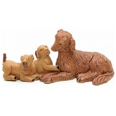 Statuine Presepe Famiglia Di Cani 12cm In Resina (f-142)