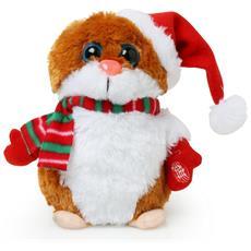 Pupazzo Criceto Di Natale Che Canta E Balla (taglia Unica) (marrone)