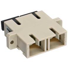 Duplex SC / SC, Multimode, with flange 2 x SC 2 x SC Beige cavo di interfaccia e adattatore