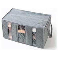 Organizzatore Armadio Porta Abiti Salvaspazio Cambio Stagione Vestiti 3 Scomparti Storage Box
