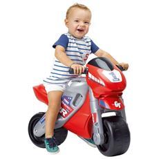 Moto A Spinta Cavalcabile Per Bambini Con Casco