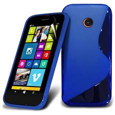 Cover Custodia Sline Silicone Tpu - Blu - Nokia Lumia 630