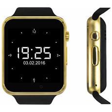 """Smartwatch SW1 Display 1.54"""" HD con Bluetooth per Fitness Oro / Nero - Europa"""