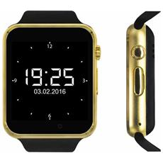 "Smartwatch Quadband Sw1 Kn Mobile Gold / black 1,54"" Hd Foto Mp3 Bluetooth"