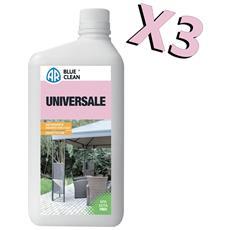 Detergente Universale Kit Da 3 Bottiglie Da 1l Per Plastica, Ceramica, Metallo