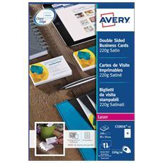 AVERY - Biglietti da visita Quick&Clean 220 g 85x54 mm...